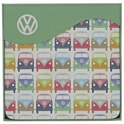 VW Campervan Coasters Set of 4 Pastel Officially Licensed Volkswagen Gift 58403