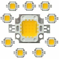 5 pcs 10W(12V DC) white High Power LED SMD bead Chips bulb light lamp.