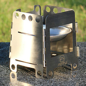 Outdoor Sports Camping Hiking Stainless Steel Foldable Stove Wood Burner Oven