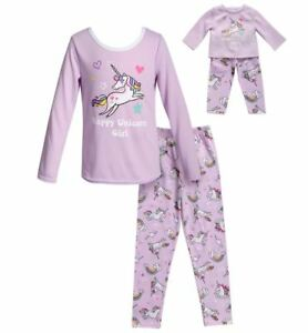 94dd6990d6 Dollie Me Girl 4-14 and Doll Matching Unicorn Pajama Set Outfit ft ...