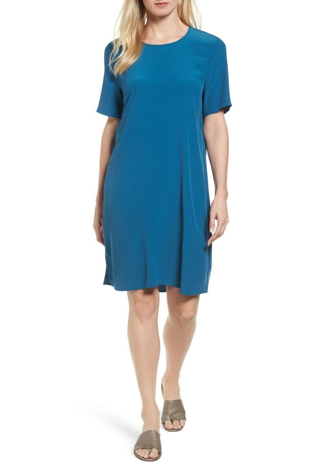 SZ M Eileen Fisher NILE Jersey Skift Dress NWT