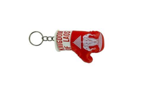 Mini boxing gloves keychain keyring flag remote key fob flag laos old