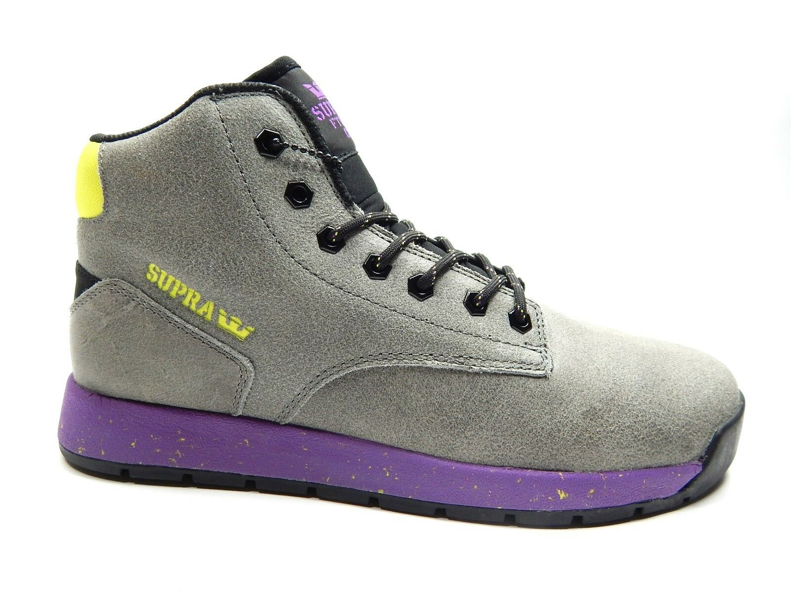SUPRA BACKWOOD CHARCOAL PURPLE hommes Chaussures SIZE 8 TO 12