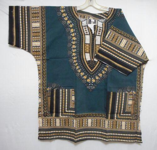 Dashiki Men Shirt African Hippie Vintage Women Top Haute Tribal Blouse One Size