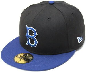 Brooklyn Dodgers New Era 59Fifty Fitted Hat - Black Dark Royal Blue ... d6031184dc1