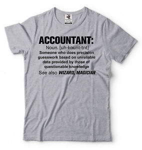 2cab9e8e3 Image is loading Accountant-T-shirt-Definition-Noun-Funny-Accounting-Tee-