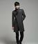 thumbnail 5 - Wool Blend Stand Collar Coat Slim Fit Jacket Men's Mid Length Parkas Asymmetric