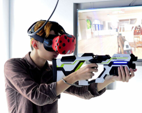 Move Controller VR Headset Game Rifle Shooting Gun For HTC Vive