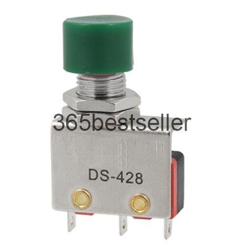 5Pcs 220V 10A SPDT momentáneo interruptor de límite de micro botón verde DS428