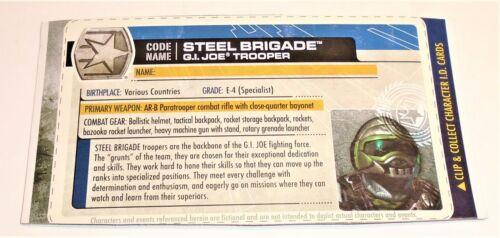 G I JOE File I.D Card Filecard 30th Anniversary 2011   Steel Brigade Trooper V3