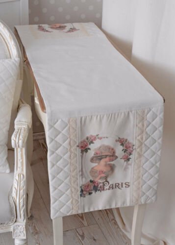 Country Style Table Runner Tablecloth White Table Decoration Vintage