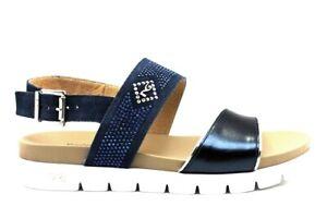 Sandali-scarpe-da-donna-basso-Nero-Giardini-P908314D-con-cinturino-casual-estate