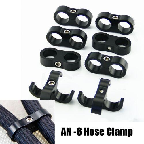 8pcs 6AN Hose Separator Clamp Bracket For 14MM Oil Fuel Hose Line Braided Hose