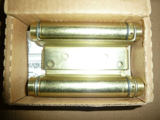 "Satin Brass 3029-4-633 Bommer 4/"" Double Acting Swing Spring Hinges 1 PAIR"