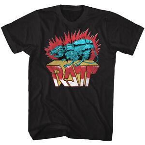 RATT-Rock-Band-Robot-Rat-Men-039-s-T-Shirt-Metal-Album-Cover-Art-Concert-Tour-Merch