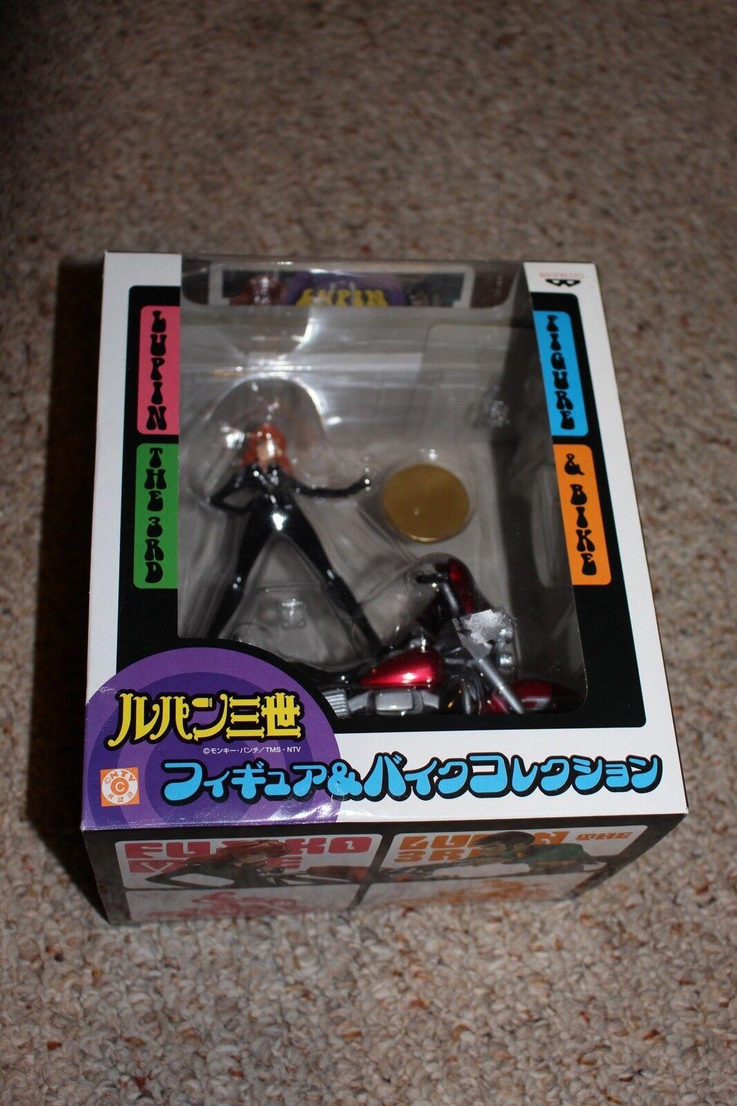 Lupin Lupin Lupin The 3rd Fujiko Figure And Bike  126 Near Mint Complete in Box b3523a