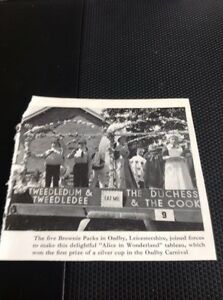 Ephemera-1967-Picture-Oadby-Leicester-Carnival-Brownies-Alice-Float-M489