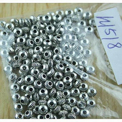 200pcs Tibetan silver oblate spacer beads h1518