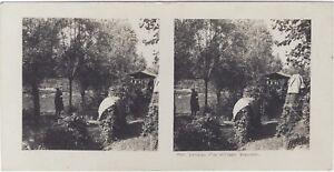 Grande Guerre Difesa Un Village Trench WW1 Foto Stereo Vintage Analogica