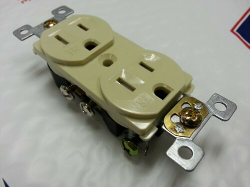 20 pc 15A Standard Duplex Receptacle 15 Amp Ivory Tamper Resistant TR NEW CODE