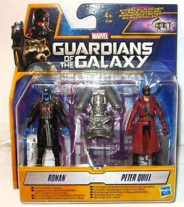 Guardians-Of-The-Galaxy-A7896-Ronan-amp-Peter-Quill-Actionfigur-Set-Hasbro-KB3