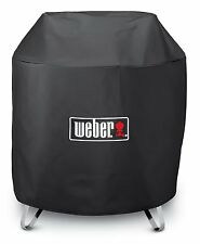 "Weber Factory Round Outdoor 28"" Portable Fire Pit 3/4 Length Cover 7460"