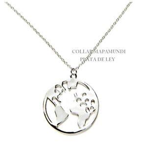 COLLAR-COLGANTE-MAPAMUNDI-2-5-CM-y-CADENA-42-3-CM-alargue-Todo-PLATA-de-LEY925