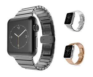 Apple-Watch-en-Acier-Inoxydable-Bracelet-Series-5-4-3-2-1-Maillons-Bracelet-42mm-44mm-metal