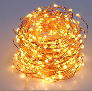 Fairy-String-LED-Lights-200-Warm-White-65-6-ft-Copper-Wire-Plug-In-Decor-Party