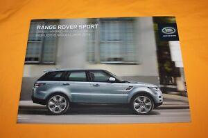Range-Rover-Sport-2014-Prospekt-Brochure-Prospetto-Depliant-Catalog-Prospect