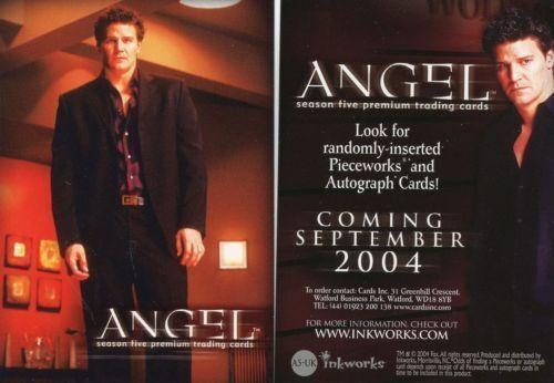 ANGEL SEASON 5  A5-UK PROMO CARD BY INKWORKS