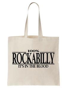 Rockabilly-Tote-Shoulder-Bag-Statement-Shopper-Gift-Funny-Music-Punk-Country