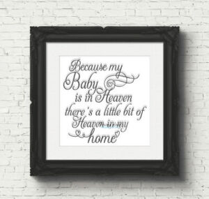 Because My Baby Is In Heaven Vinyl Decal Sticker For Box ...