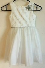 9c80dd618 Bella Marmellata Flower Girl Special Occasions Pageant White Silver Dress  Size 5