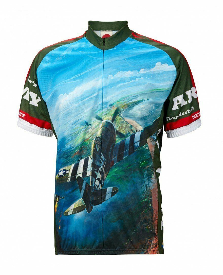 Army Air P-47 WWII Cycling Jersey