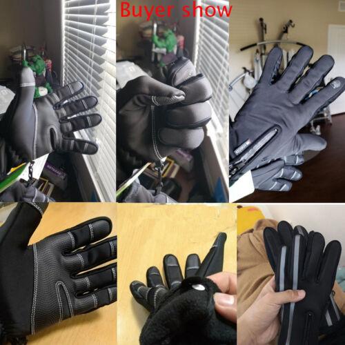Men Women Sport Gloves Thermal Walking Sports Running Screen Warm Gloves DJF
