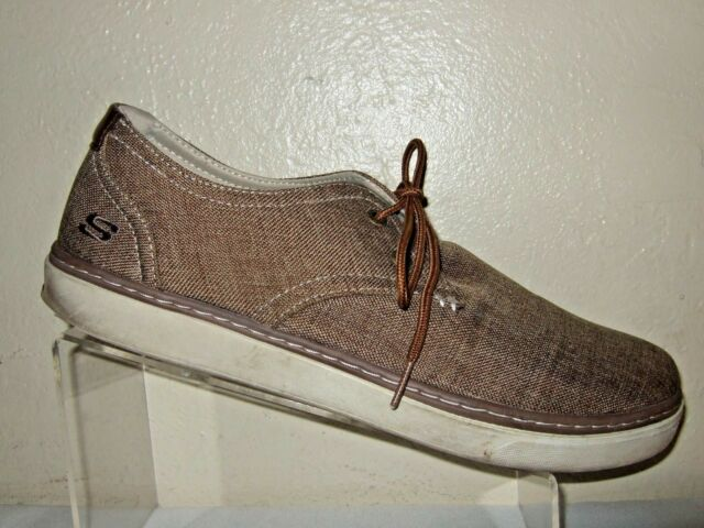 002b3d83756f SKECHERS Relaxed Fit Brown Canvas Shoes W Memory Foam Men s Size 12 ...