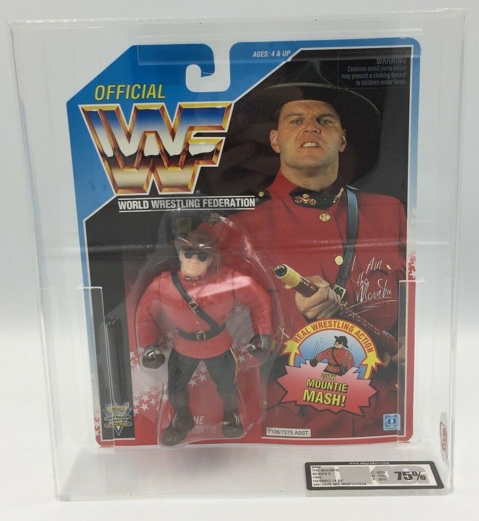 WWF Hasbro The MOUNTIE Series 5, 1993 Carded Figure-UKG not AFA graded - 75%