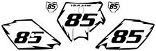 2003-2012 KTM 105 SX Custom Pre-Printed White Backgrounds Black Shock Series