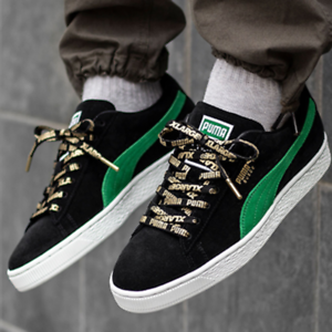 Details about NIB PUMA Suede Classic x XLARGE BLACK GREEN MENS LACE UP  SNEAKERS *SOLD OUT*