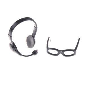 Black-Simulation-Glasses-Earphone-Toys-for-Children-Doll-Accessories-HU
