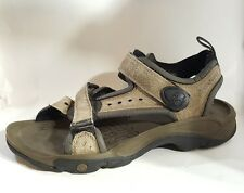 TIMBERLAND Men sz 9M Sandals Brown Leather Adjustable Fit 69187 Open Toe Shoes