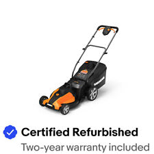 "WORX WG744 2X20V PowerShare 17"" Cordless Electric Lawn Mower with Mulch Plug"