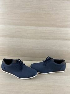 aldo 'banstock' navy synthetic leather lace up low top