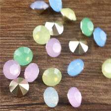 20Pcs8mm High quality Mix Crystal beads Point back Rhinestones Glass Chatons