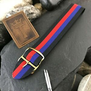 20mm-Perlon-1960s-Vintage-Watchband-Eulit-Military-Diver-Regimental-nos-Strap