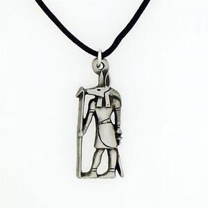 English pewter anubis pendant necklace egyptian ebay image is loading english pewter anubis pendant necklace egyptian aloadofball Images