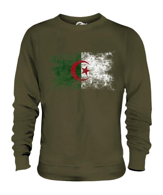 ALGERIA DISTRESSED FLAG UNISEX SWEATER TOP DZAYER DZAYER DZAYER ALGERIAN AL-JAZA'IR SHIRT  | Schön geformt  66fa26