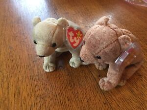 Beanie Babies Almond and Pecan 1999 Ty MINT