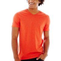 Two (2) Arizona V-neck Jersey Tee Horizon Orange With Tags Size Xs